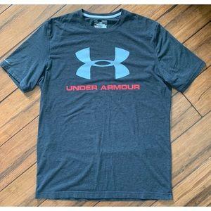 Under Armour Men's Gray Graphic T Shirt Medium